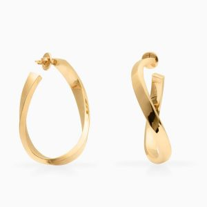 Rabat rose gold hoops earrings 5 mm