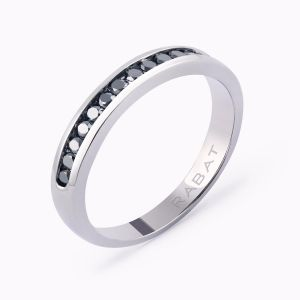Black diamonds wedding band