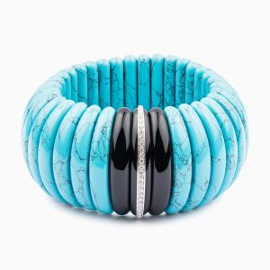 Turquoise bracelet with diamonds