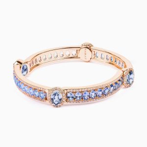 Rose Gold Bracelet with Sapphire and Diamonds