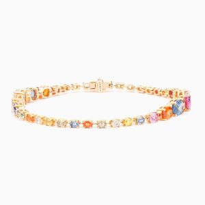 Color Oval Saphires Bracelet