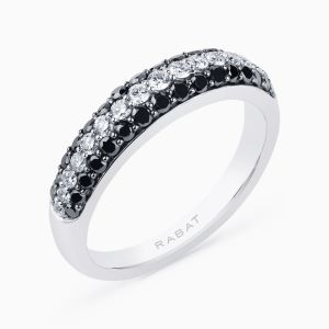 Ring with Black Diamonds