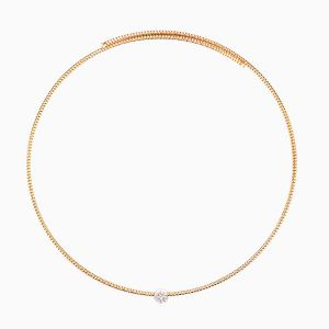Rigid Necklace in Rose Gold and Diamonds