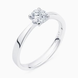 Poetic solitaire engagement ring