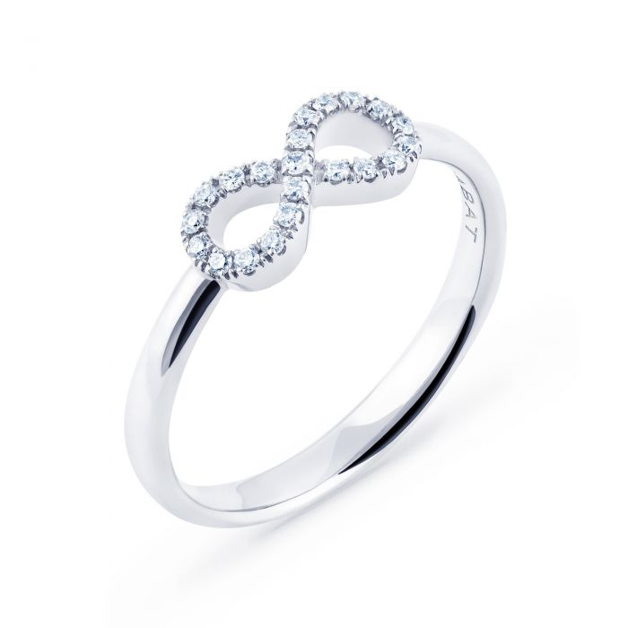 infinity gold sil jewelry white ring