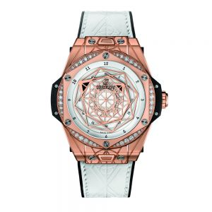 Hublot Big Bang One Click Sang Bleu King Gold White Diamonds
