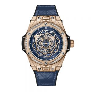 Hublot Big Bang One Click Sang Bleu King Gold Blue Diamonds