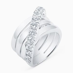 Anillo Multibrazo de Diamantes