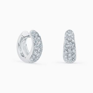 Hoops Earrings with Diamonds