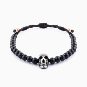 Bracelet with white gold skull