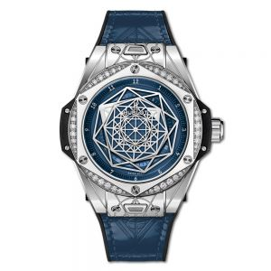 Hublot Big Bang Unico Sang Bleu Steel Blue Diamonds