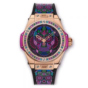 Hublot Big Bang One Click Calavera Catrina King Gold