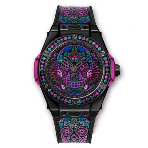 Hublot Big Bang One Click Calavera Catrina Black Ceramic