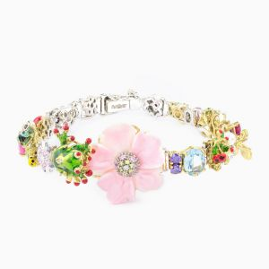 Bracelet with enamel flowers