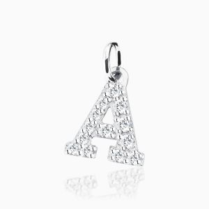 Letter A pave setting