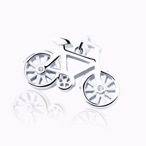 Bicicle charm bracelet in silver