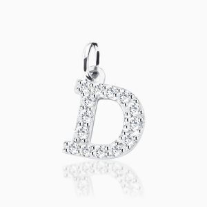 Letter D pave setting