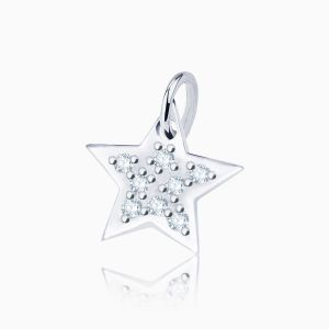 Star diamonds charm bracelet