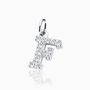 Letter F pave setting