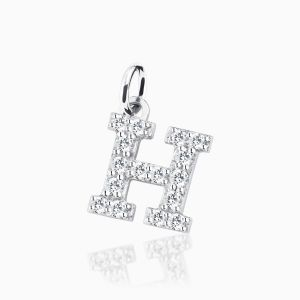 Letter H pave setting
