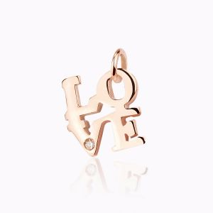 Love rose gold charm bracelet