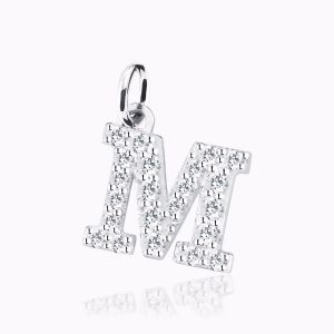 Letter N pave setting