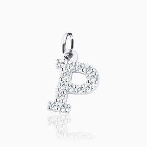 Letter P pave setting