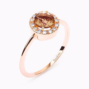 Rose Gold Ring with Brilliant-cut Diamond