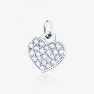 Heart diamonds charm bracelet