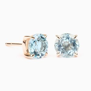 Blue sky topaz earrings