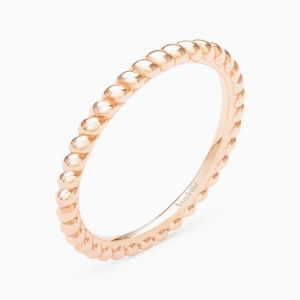 Curly Wedding Band in Pink Gold