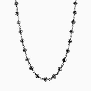 Briolette necklace with black diamonds