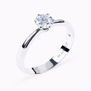 """Rose"" solitaire engagement ring"
