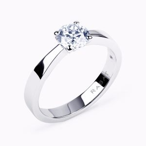 """Poetic"" solitaire engagement ring"