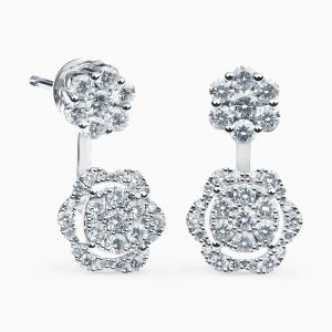 Diamonds Earrings in White Gold