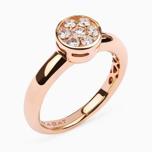 Hearth Shape Ring in Rose Gold and Diamonds
