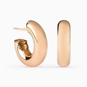 Small Hoop Earrings in Rose Gold