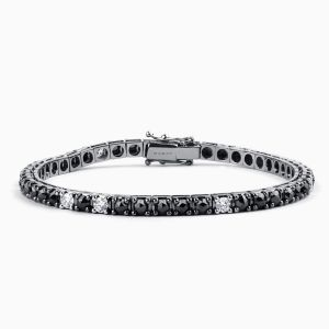 Bracelet with Black and White Diamonds