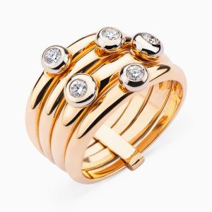 Rose Gold Ring Multi Band