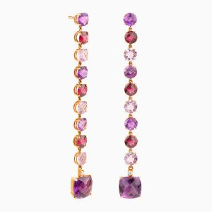 Natural Stones Long Earrings