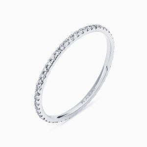 """Poetic Thin"" diamods wedding band"