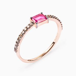 Baguette cut Ruby Ring