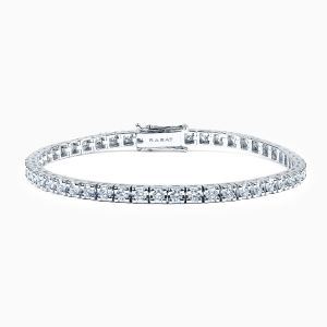 Riviere Bracelet with Black Diamonds