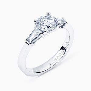 Poetic Engagement Ring with Side Diamonds