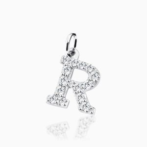Letter R pave setting