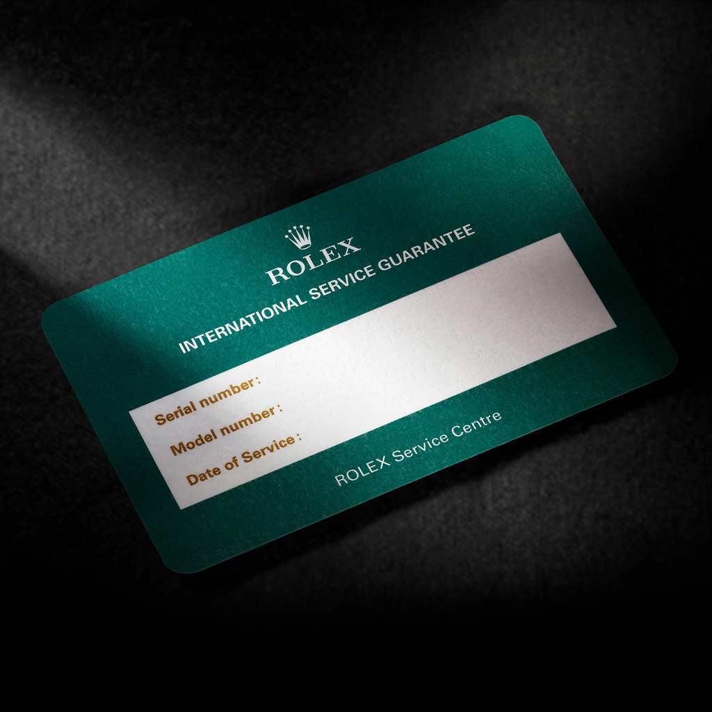 Garantía internacional de 2 años Rolex