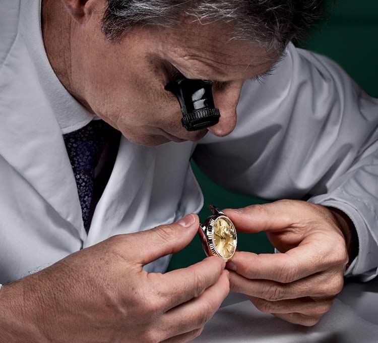Relojero certificado por Rolex