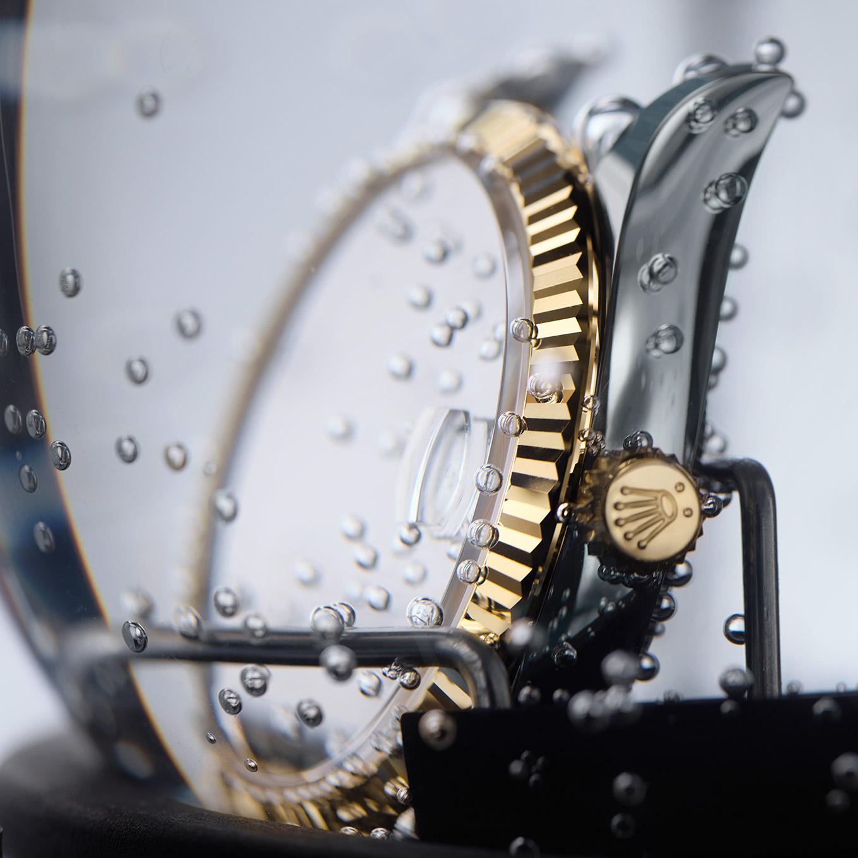 REnsamblaje de la caja de un reloj Rolex