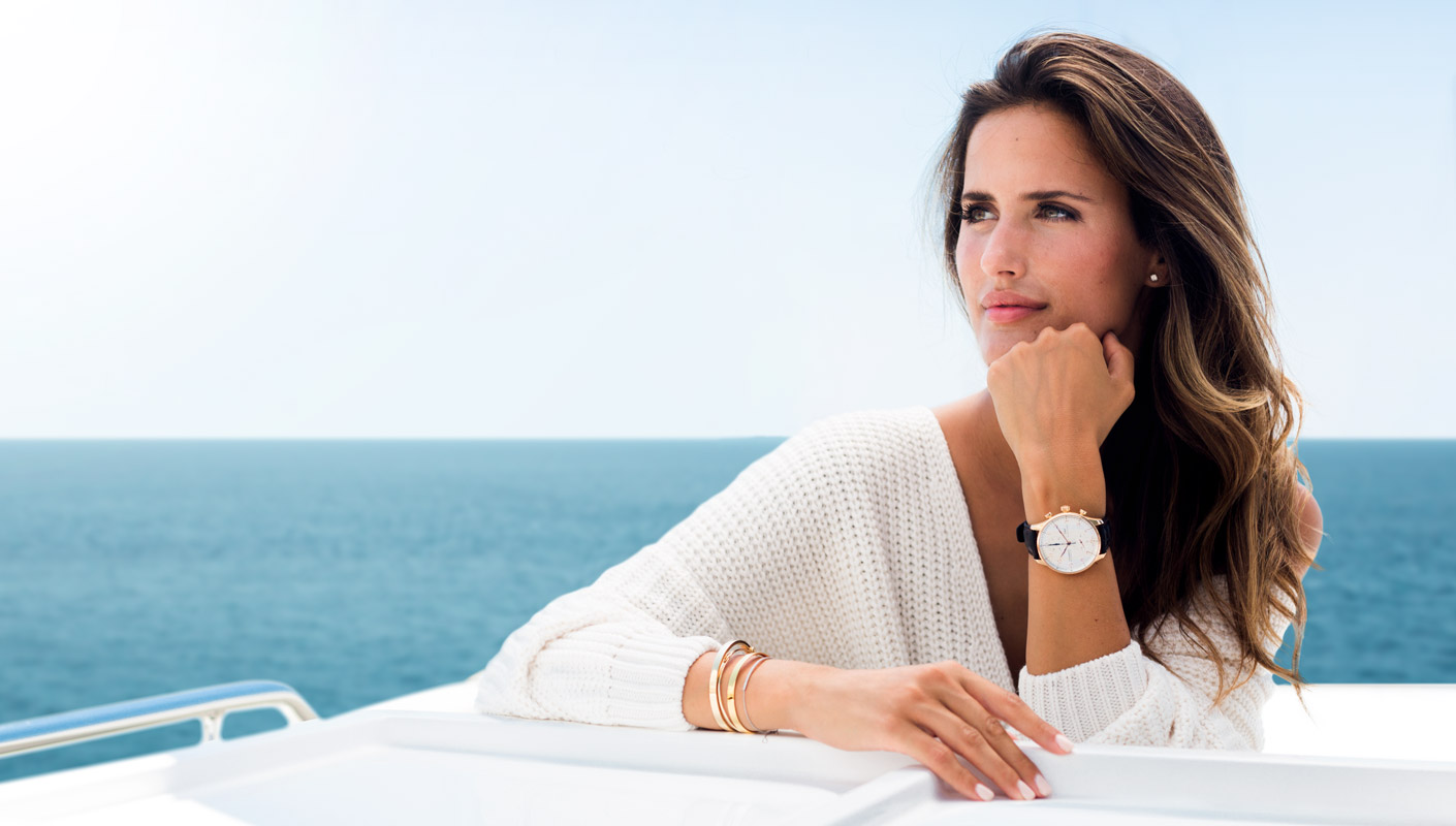 Alex Riviere con relojes IWC para mujer